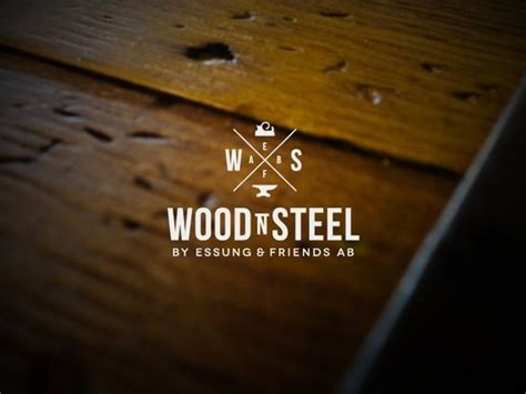 logo design  woodn steel furniture ab design
