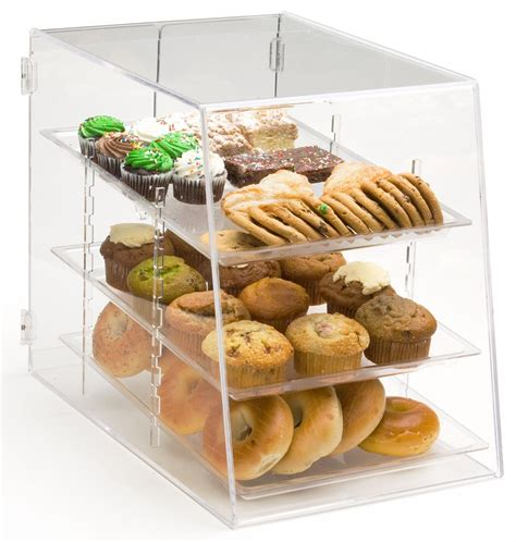 snack cuisine food bin for bakeries 3 removable plastic trays
