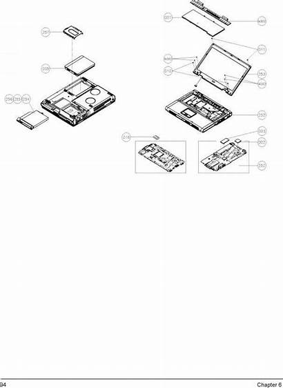 Exploded Screen Lcd Chapter Drawing Aspire Travelmate