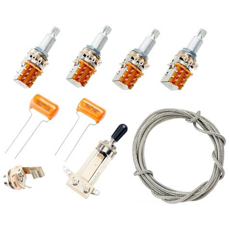 wiring kit for gibson 174 jimmy page les paul complete w diagram pots switch wire 645208043659 ebay