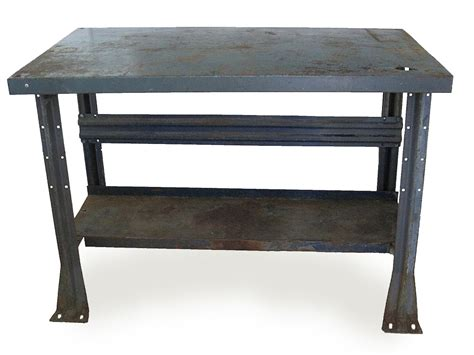 industrial metal console table rustic industrial metal console table mix vintage
