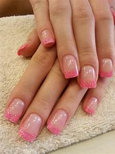nails fancy pink glitter tips orly quot colored