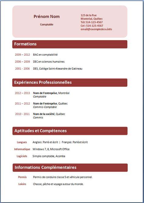 Cv Détaillé Gratuit by Des Mod 232 Les De Cv Exemple Modele Cv Lamalledumartroi