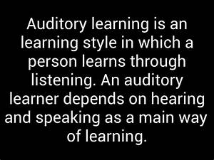 Auditory And Kinesthetic Learners By Gracey