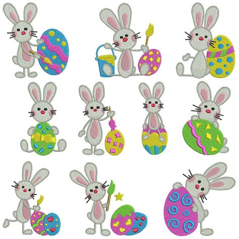 embroidery machine designs easter bunny machine embroidery patterns 10 designs