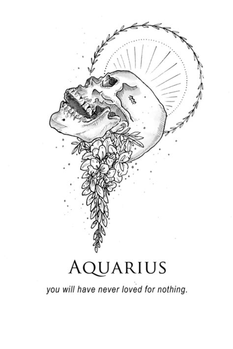 Pin by Dana Kaye on Born that way....   Aquarius tattoo, Aquarius, Tattoos
