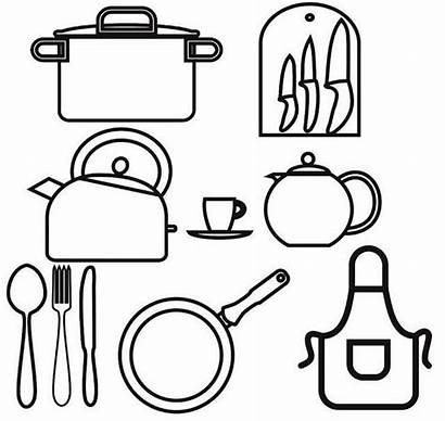 Utensils Kitchen Cooking Drawing Coloring Pages Utensil