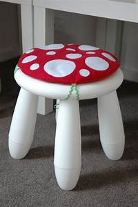 Ikea Mammut Stuhl : toadstool cushion red children kids cushion for ikea mammut stool chair chairs children ~ Watch28wear.com Haus und Dekorationen
