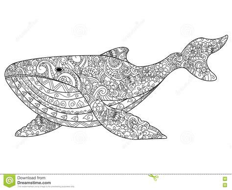 dolphin zentangle vector illustration cartoondealercom