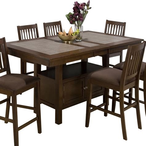 what is a butterfly leaf on a dining room table jofran jofran 976 caleb brown tile top counter height