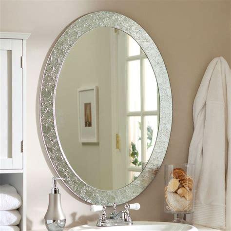 Modern Oval Bathroom Mirrors by Best 25 Oval Bathroom Mirror Ideas On Half