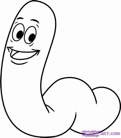 Draw Worm Step Worms Cartoon Things Drawing