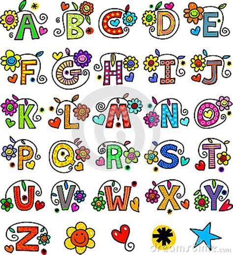 whimsical alphabet monograms stock illustration image