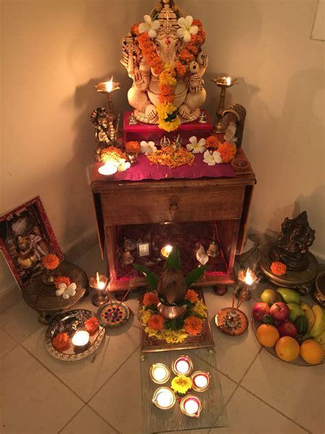 laxmi pooja diwali goddess decor pooja room design