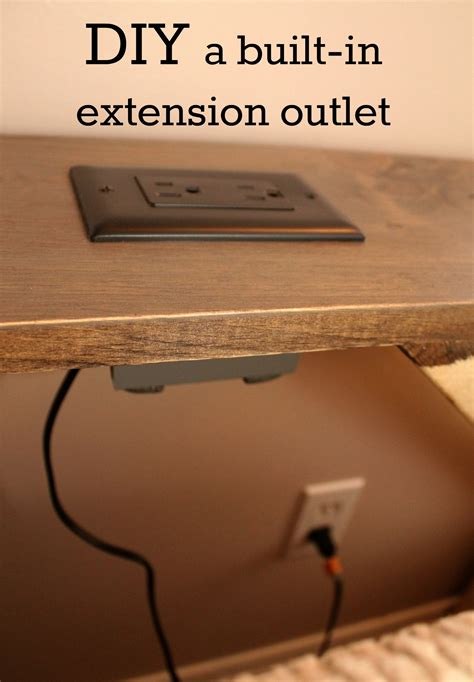end tables with built in outlets turtles and tails diy a built in extension outlet