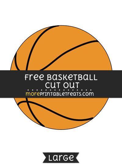 basketball cut  large size printable