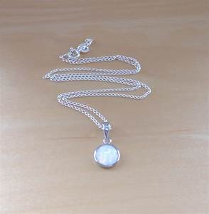 "925 White Opal Pendant & 18"" SterlingSilver Chain/Opal ..."