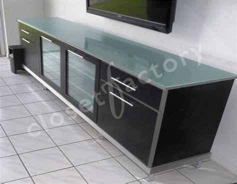 sleek modern black  metallic media cabinet ft