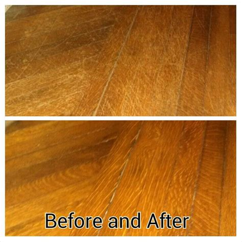 hardwood flooring ta 1 4 cup olive oil and 1 4 cup white vinegar scrub into scratched hardwood floor and ta da