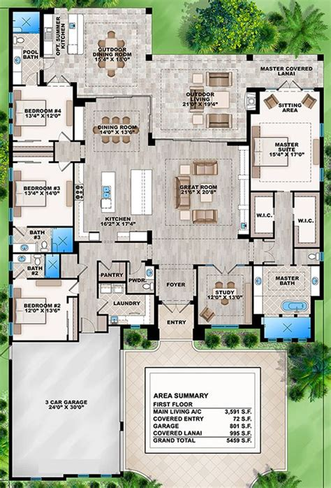 one house plans with large kitchens house plan 207 00031 contemporary plan 3 591 square
