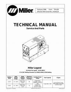 miller electric legend aead 200 le user manual 68 pages With miller electric owner39s manual welding engine driven welding generator