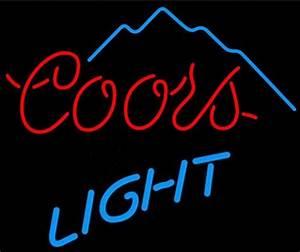Me394 coors light mountain beer bar neon light sign 15 x