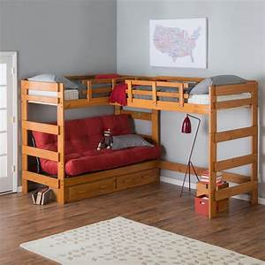 Couch bunk bed with amazing functions that you can use for Loft bed with sofa and desk