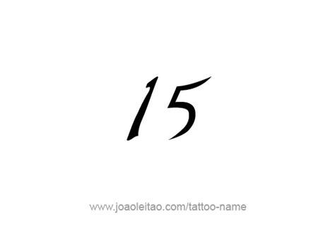 fifteen  number tattoo designs tattoos  names