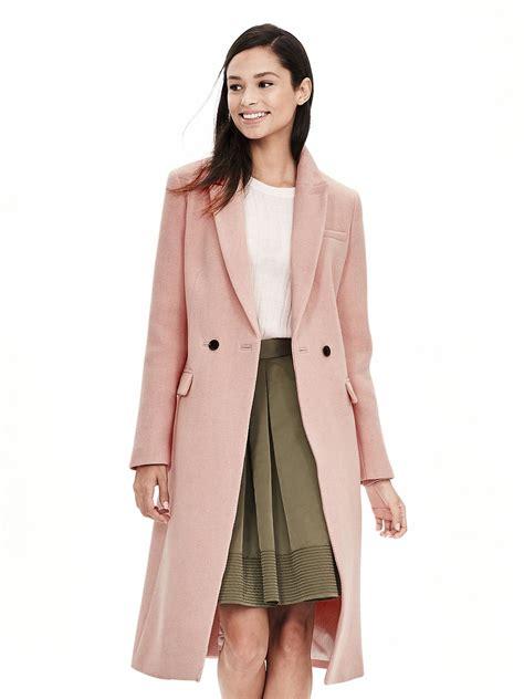 Banana Republic Draped Wool Coat - banana republic pink breasted coat in pink lyst