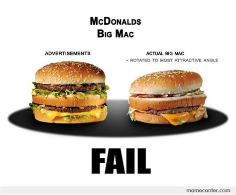 Big Mac Meme - big mac reality by ben meme center