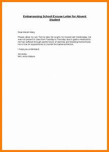 6+ excuse letter for absence in college fancyresume