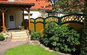 Solarbrunnen Für Den Garten : sichtschutz aus kunststoff in astfichte ~ Lizthompson.info Haus und Dekorationen