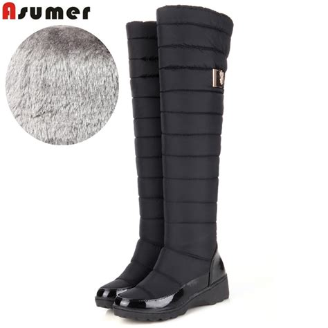 Asumer Plus Size New Keep Warm Winter Snow Boots For Women