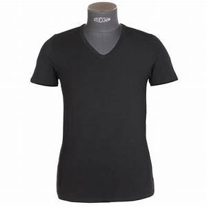 Tee Shirt Moulant Homme : tee shirt col v eminence anatomic en micromodal noir rue des hommes ~ Dallasstarsshop.com Idées de Décoration