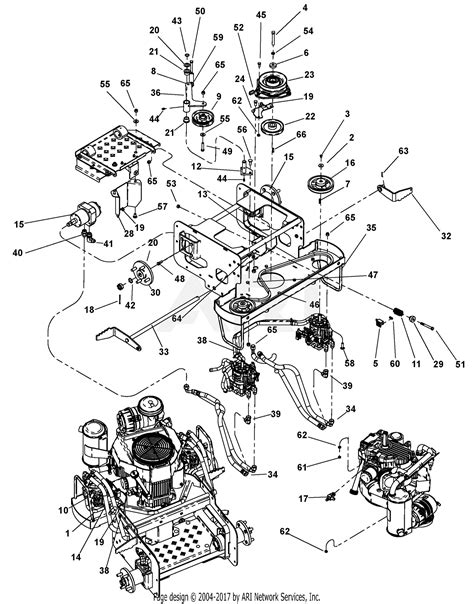 gravely 994104 000101 000297 1934fx 19hp kawasaki 34 quot deck parts diagram for engine