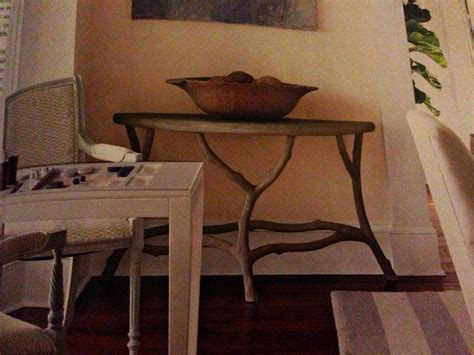 cute tree branch table log furniture hinged table