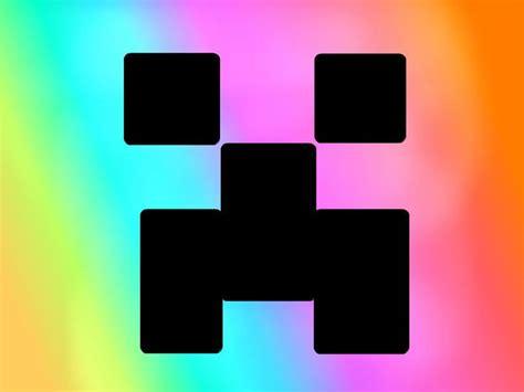 minecraft rainbow skinned creeper  audsmarmarvee