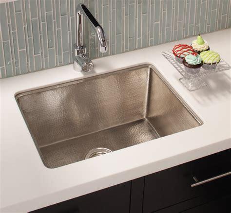 howdens kitchen sinks cocina 24 copper kitchen sink in brushed nickel by 1747