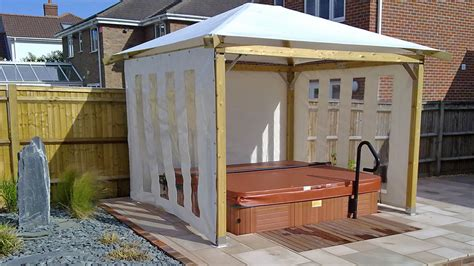 coolest gazebo canopy  hot tubs build step  step