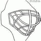Goalie Mask Coloring Hockey Drawing Getdrawings Coloringway sketch template