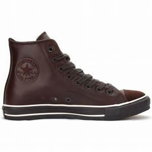 Converse All Star Cuir Marron Chocolat Chocolat Chaussures Basket montante 48,00