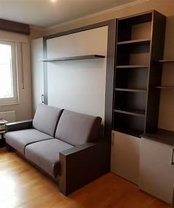 Lit Avec Tv Escamotable : lit escamotable symphonie am nag de mur mur modulance ~ Nature-et-papiers.com Idées de Décoration