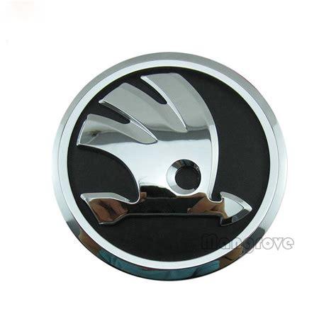 vw original front emblem badge skoda logo for skoda octavia yeti 90mm decoration for cars