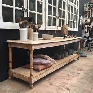 Table De Drapier : ancienne table de drapier peinte drapier pinterest peindre table et ancien ~ Teatrodelosmanantiales.com Idées de Décoration