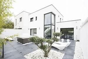 lyon maison contemporaine a toit plat pinteres With ordinary photo maison toit plat 0 photo de maison design toit plat