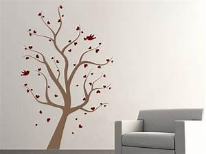 Baum Für Wohnzimmer : wandtattoo baum mit herzen von ~ Michelbontemps.com Haus und Dekorationen