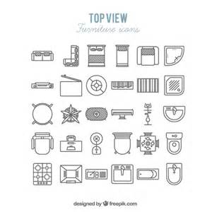 how to draw floor plans for a house furniture icons in top view vector free