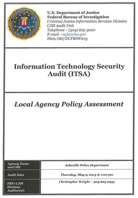 bureau du fbi document fbi audit of asheville department s it