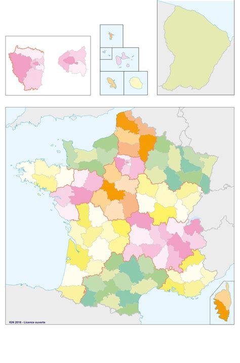 Carte De Region Et Departement Vierge by Les Fonds De Cartes Vierges De La Propos 233 S Par L
