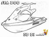 Coloring Jet Boat Pages Ski Printable Doo Shrimp Sea Water Boats Printables Print Skis Yescoloring Template Coolest Watercraft River sketch template